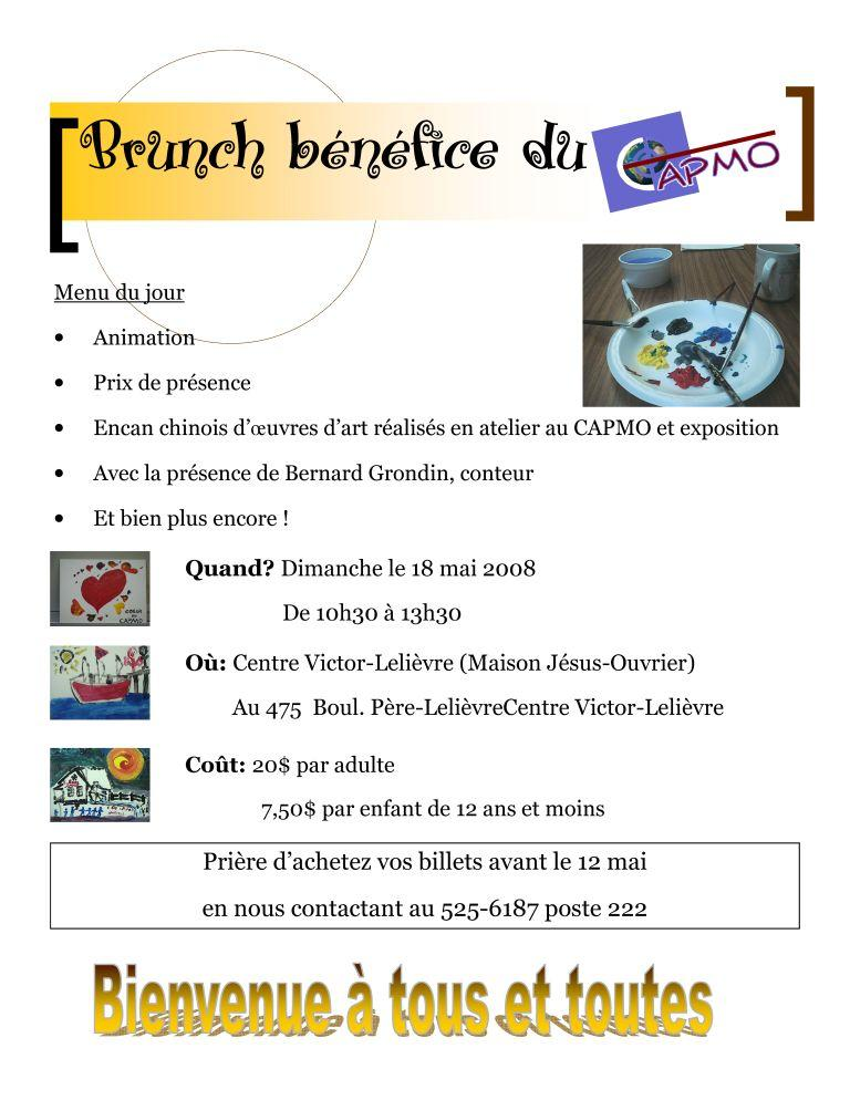 Affiche Brunch Capmo 2008